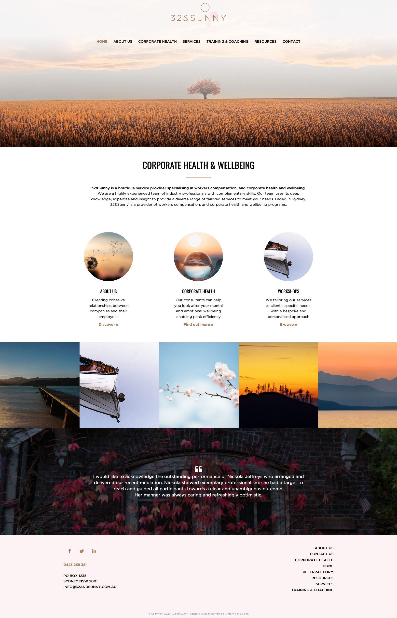 32 and Sunny by Kapsule Websites
