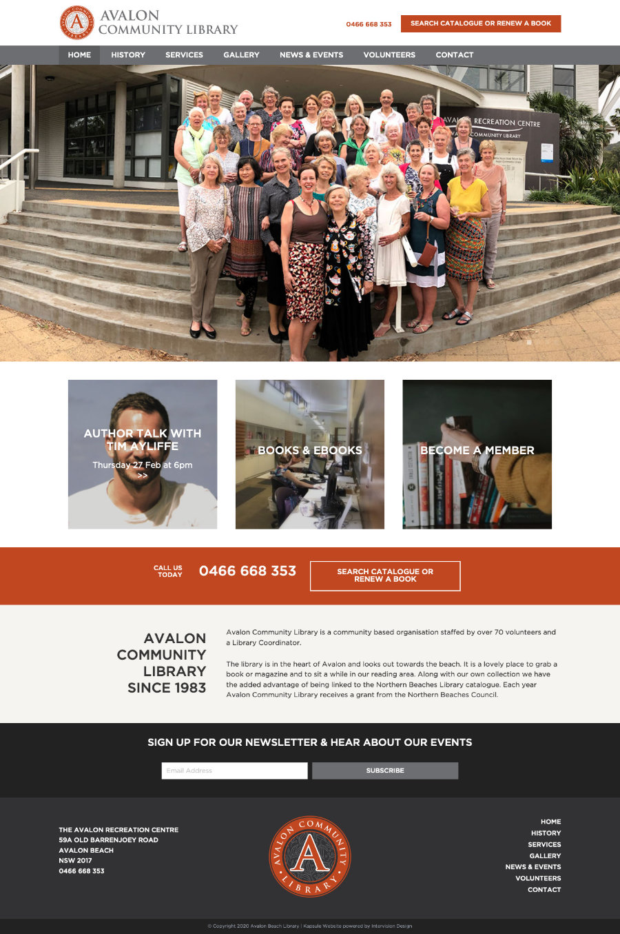 Avalon Library by Kapsule Websites