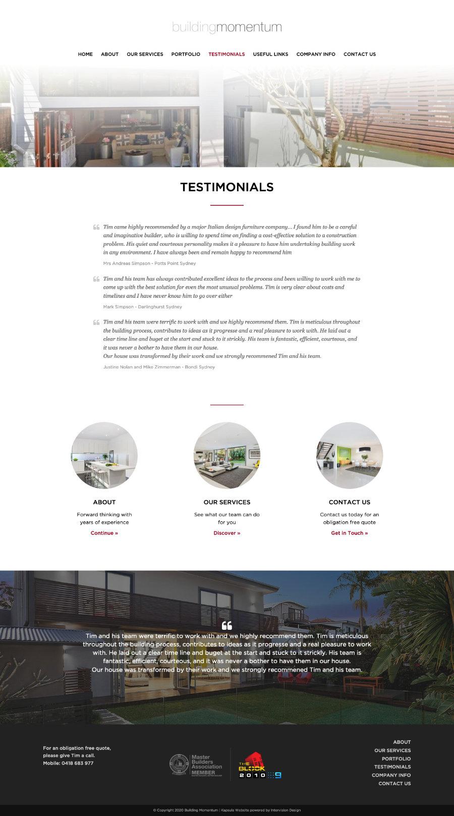 Building Momentum by Kapsule Websites