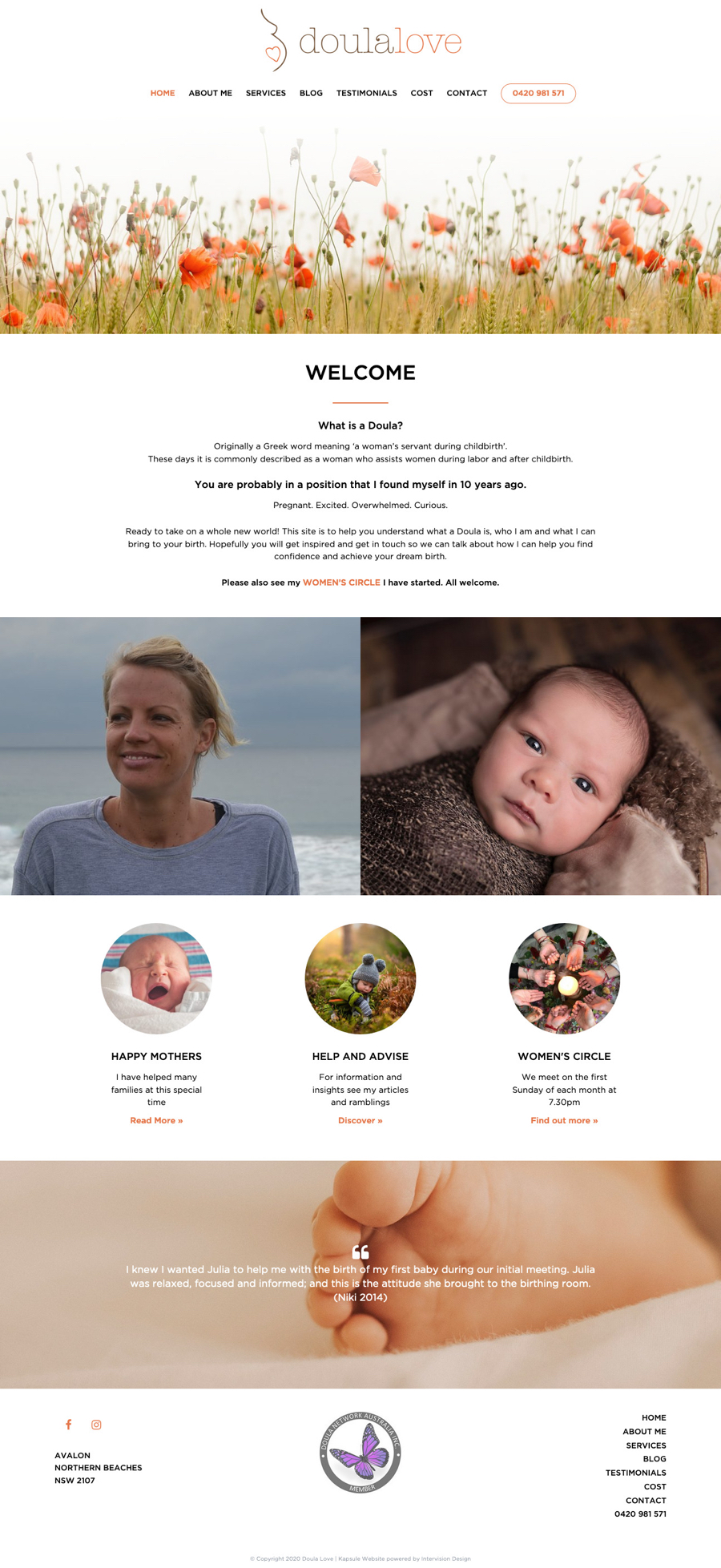 Doula Love by Kapsule Websites