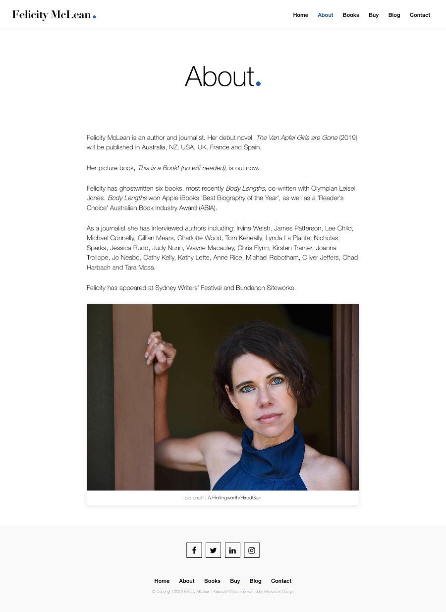 Felicity McLean by Kapsule Websites
