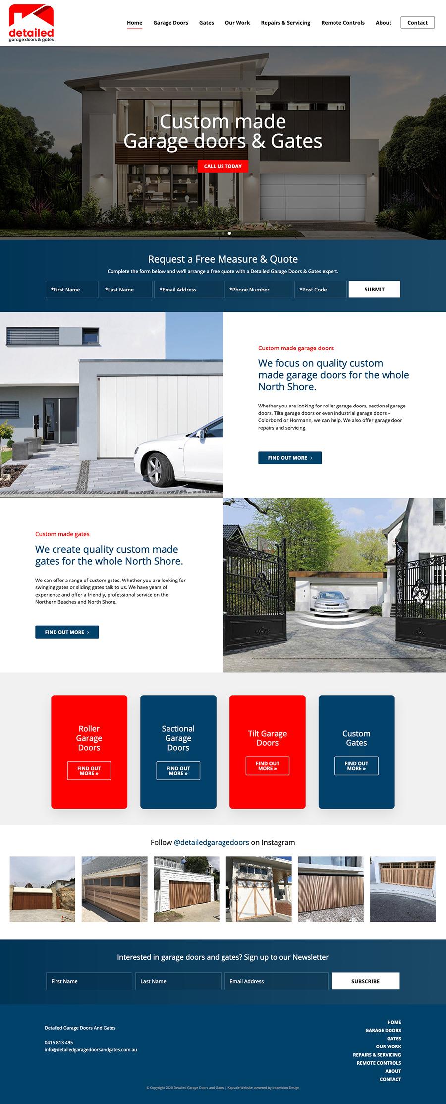 Detailed Garage Doors by Kapsule Websites