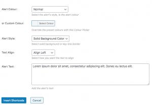 how to add an alert box in wordpress
