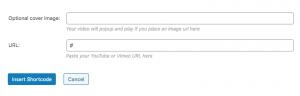 video shortcode