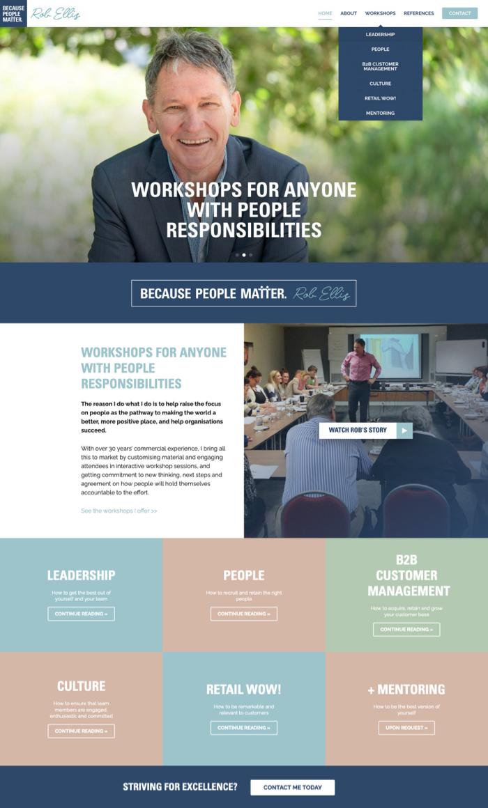 Rob Ellis website by Kapsule Websites